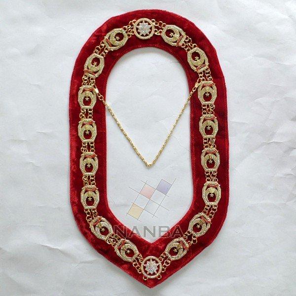 Masonic Rhinestone Shrine Collar