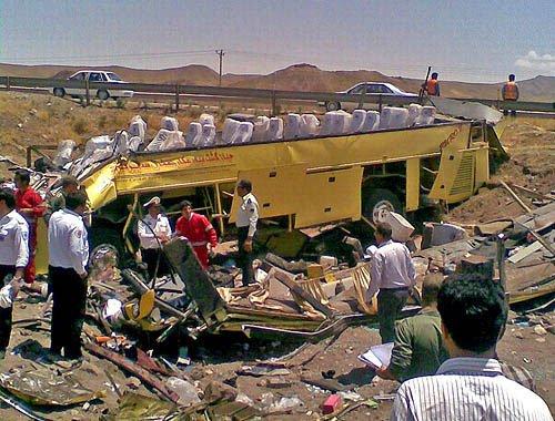 سانحه مرگبار؛ اتوبوس و سواری له شدند/ چهار کشته و 35 مجروح