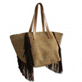 Grand sac à main raphia crocheté - Vannerie Sana