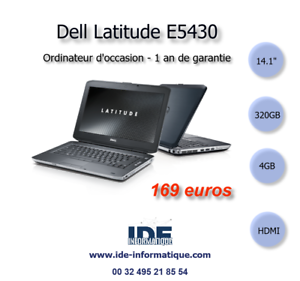 ORDINATEUR PORTABLE DELL LATITUDE E5430 - 1900mhz - 320 GB - 4GB - WEBCAM | eBay