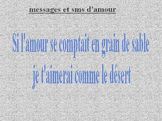Messages d amour