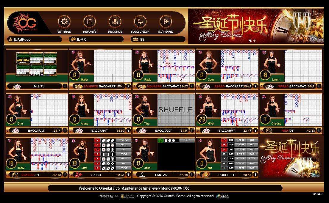Situs Game Taruhan Casino Online ORIENTAL CLUB Terpercaya