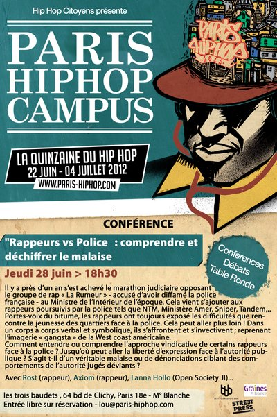AXIOM / PARIS HIP HOP 2012 / DEBAT - RAPPEURS VS POLICE -
