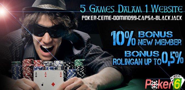 Situs Judi Poker Online Deposit 10 Ribu