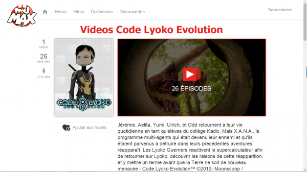 Code Lyoko Evolution en SVOD sur TFou Max !