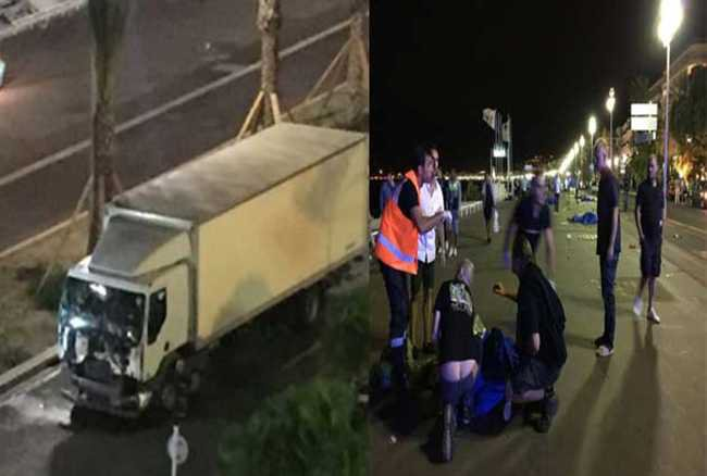 फ्रांस में आतंकी हमला! जश्न मना रहे लोगों को ट्रक ने कुचला, 84 की मौत
