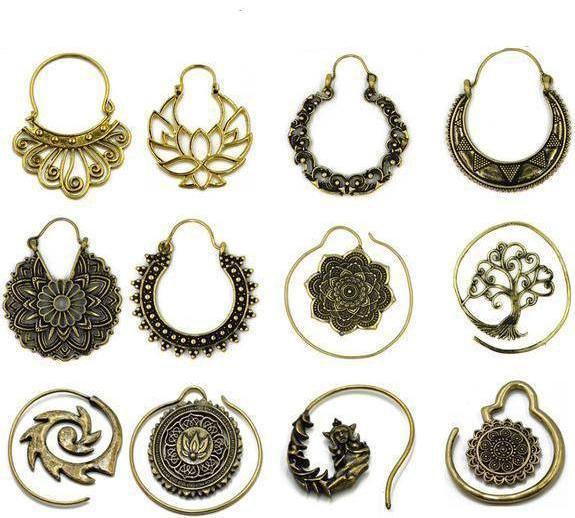 Boucle en Laiton, Tourbillon, Gitan, Indien, Perlé, Mandala, Lotus, Tribal...