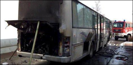 L'essentiel Online - Un bus prend feu à Heiderscheid - News