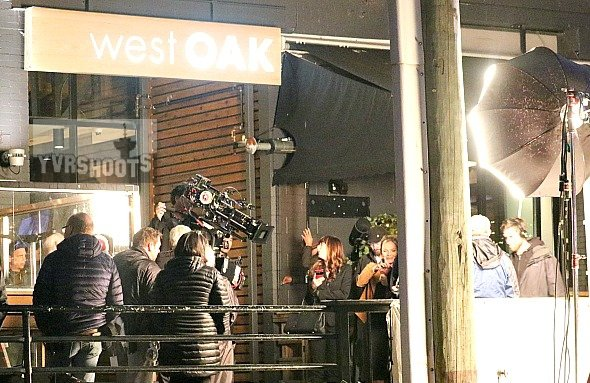 SHOOT: FIFTY SHADES Girls Night Out in Vancouver's Yaletown with Dakota Johnson & Eloise Mumford