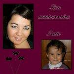 en ce 17 avril ... je souhaite un bon anniversaire a ma Tatie Sophie...je lui fais de gros bisous ..... - Louise
