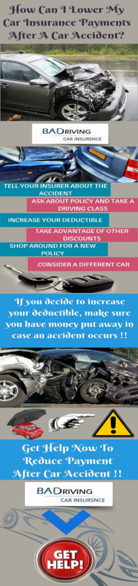 how can i lower my car insurance payments after an accident baddrivingcarinsurance 39 s blog. Black Bedroom Furniture Sets. Home Design Ideas