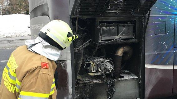 Obertauern: Reisebus fing während der Fahrt Feuer