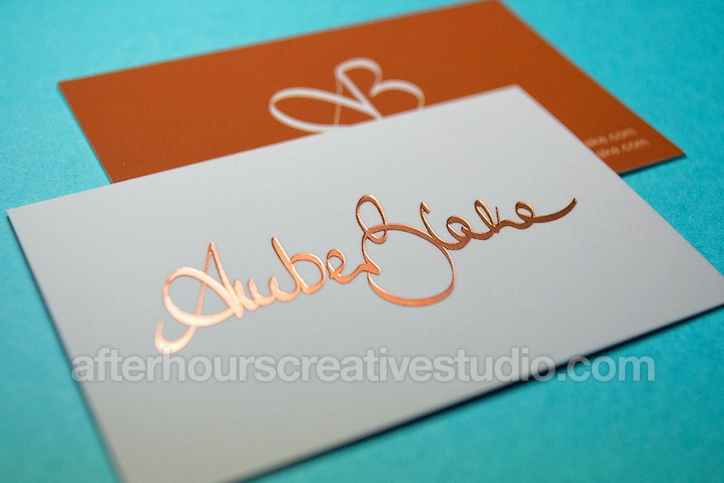 Rose Gold Foil Business Card