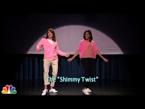 Watch Jimmy Fallon And Michelle Obama Get Goofy In Evolution Of Mom Dancing Part 2