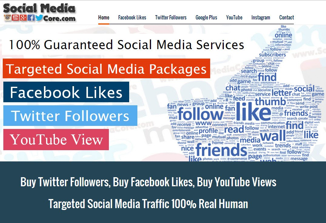 Social Media Core - Buy Twitter Followers, Buy Facebook Likes, Shares