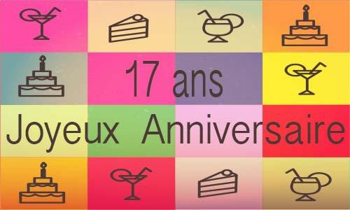 Carte anniversaire humour 17 ans cirque