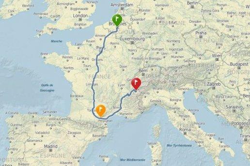 Des touristes belges passent par Carcassonne pour se rendre à la Plagne (1 200 km pour rien)