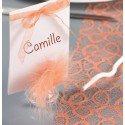 Plume corail x 20 : décoration mariage fêtes