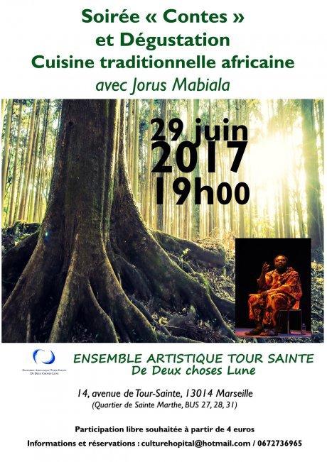 Soirée Contes et Dégustation autour de Jorus Mabiala - Délégation de Marseille - Secours catholique