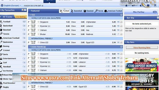 Situs www.wuoza.com Link Alternatif Sbobet Terbaru
