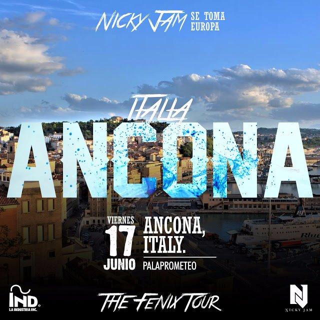 MIAMI NEWS 106: NICKY JAM EN CONCIERTO 17 JUNIO DEL ANCONA ITALIA AVEC MODELS STARS