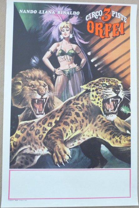 Nouveauté à vendre : Affiche circo NANDO LIANA RINALDO ORFEI années 60?