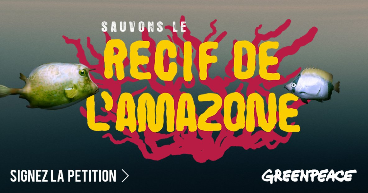 Sauvons le récif de l'Amazone