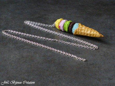 Collier glace en fimo : Collier par jl-bijoux-creation