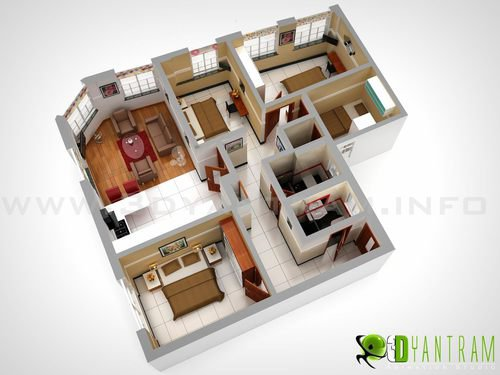 3D Residential Floor Plan Design Studio Jonesburg - ruturajdesai