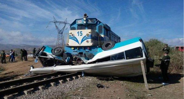 Algérie Presse Service - Mascara: 4 morts et 10 blessés lors d'une collision entre un bus et un train près de Bouhnaifia