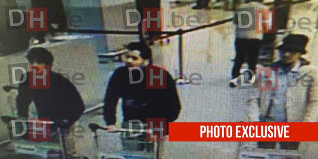 Attentats de Bruxelles: la photo des suspects possibles à l'aéroport !