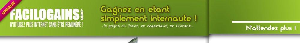 Facilogains.com - N'utilisez plus Internet sans être rémunéré !