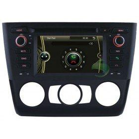 Auto DVD Player GPS Navigationssystem für BMW E88 1 Series(2004 2005 2006 2007 2008 2009 2010 2011 2012) Convertibl (manuelle Klimaanlage und Sitzheizung)