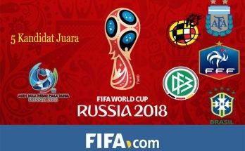 Prediksi Pemenang Piala Dunia 2018