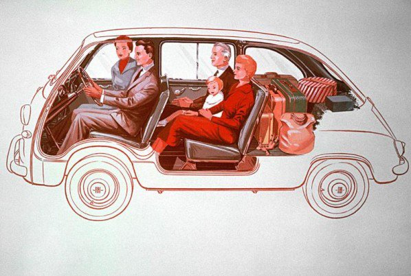 La Fiat 600 Multipla, un véhicule tout droit sorti de la Dolce Vita !