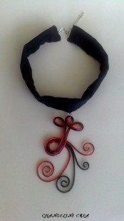 Tour de cou sexy rouge et noir : Collier par changeline-crea sur ALittleMarket