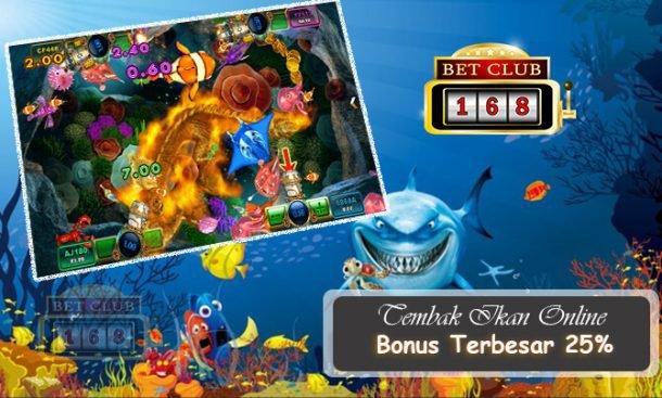Agen Bonus 25% Terbesar Permainan Tembak Ikan Online 2018