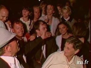 La famille de Mireille Mathieu lors d'un concert