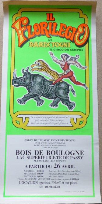 Affiche circo IL FLORILEGIO di DARIX TOGNI
