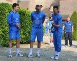Nasri, Benzema et Ben Arfa qui jouent à la pétanque