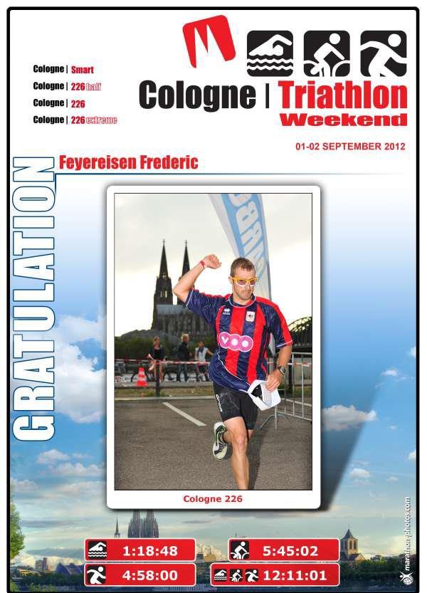 FRED, L'HOMME DE FER: IROMAN de COLOGNE/Köln en Allemagne