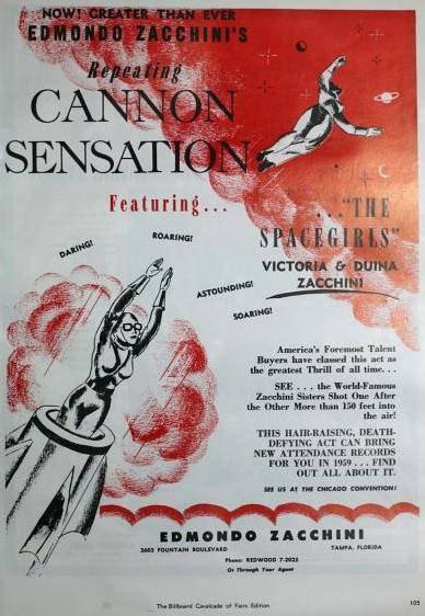 """"""" CANNON SENSATION """" présenté par Edmondo Zacchini !"""