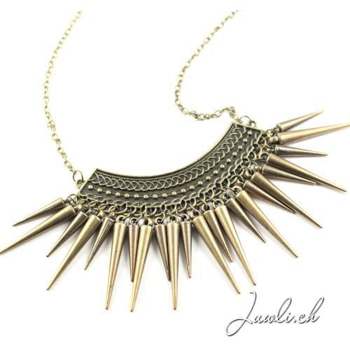 Spike Halskette in bronze — Modeschmuck günstig online