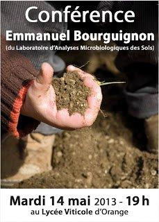 Conférence d'Emmanuel Bourguignon au Lycée Viticole d'Orange (84).