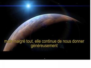 Vous êtes la planète Terre !