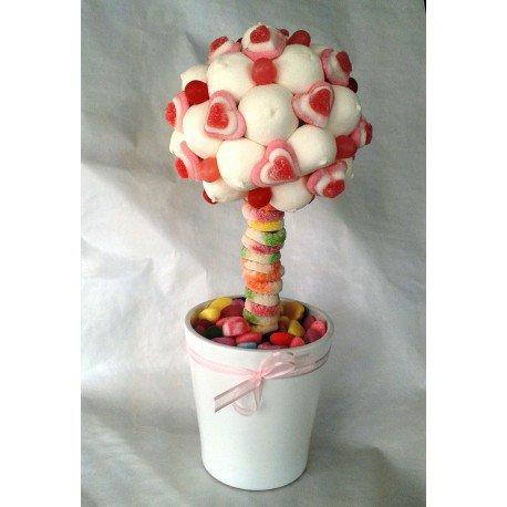 Petit arbre en bonbon en coeur