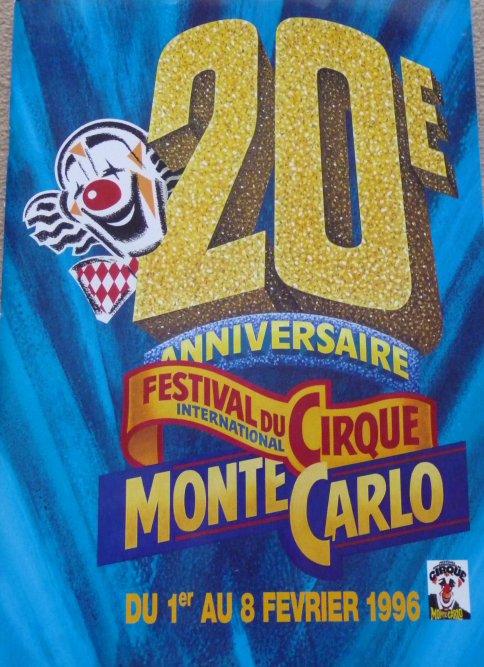 A vendre / On sale / Zu verkaufen / En venta / для продажи :  Programme 20ème Festival International du cirque de Monte-Carlo 1996 - 1