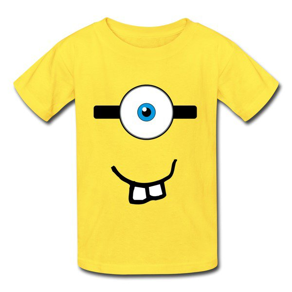Geek Minions Face Yellow 7600b T-shirt For Kid on Sale-HICustom.net