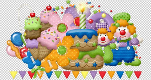 pour anniversaire,ballons,etiquettes