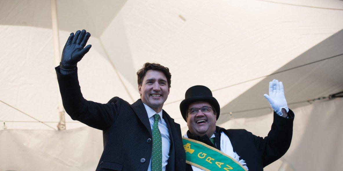 Défilé de la Saint-Patrick à Montréal: Trudeau et Coderre présents   The Huffington Post